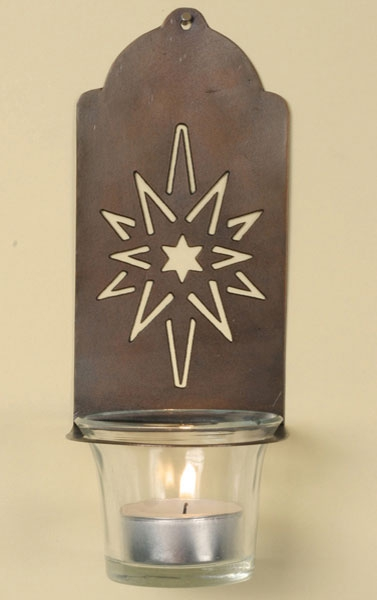 Moravian Star Votive Sconce