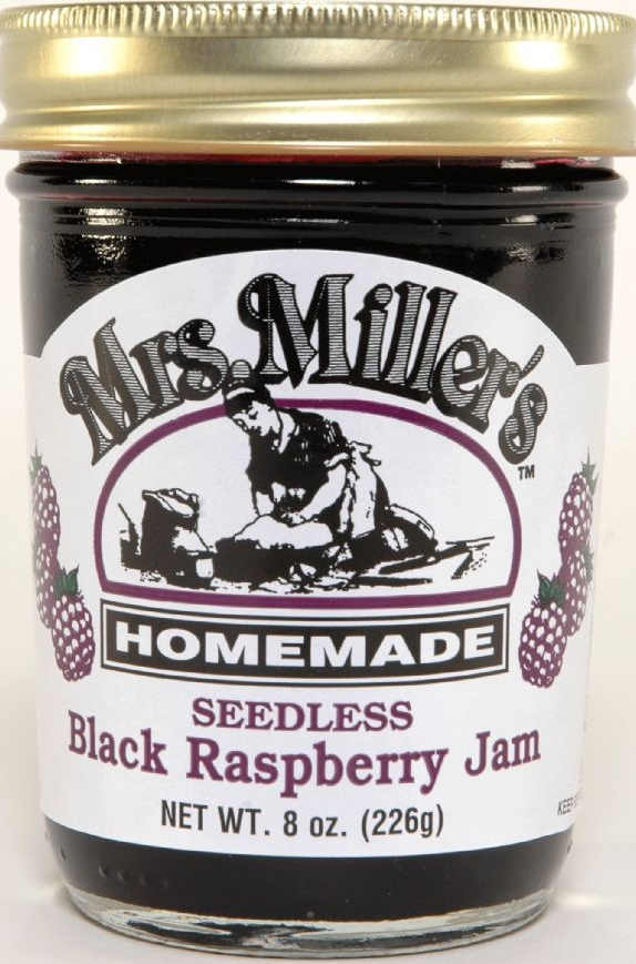 Mrs Millers Homemade Seedless Black Raspberry Jam 2 Jars