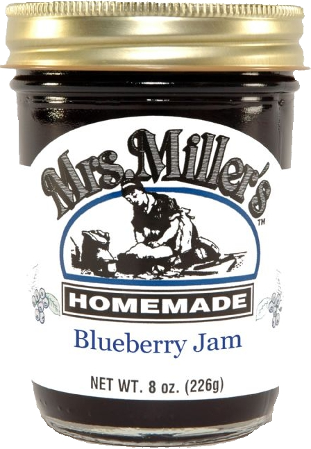 Mrs Millers Homemade Blueberry Jam 2 Jars